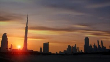 Beautiful sundown dubai burj Khalifa — Stock Video