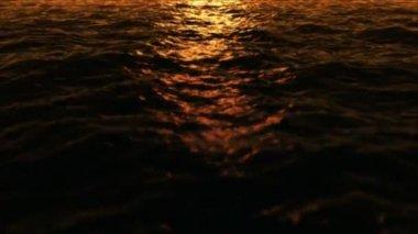 Water fly 2 sundown low — Stock Video