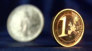 Desenfoque del euro al dólar de la libertad — Vídeo de stock