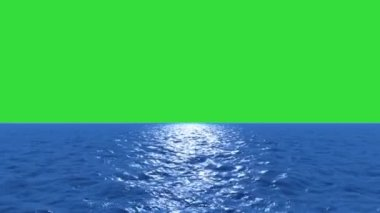 Water fly low with green screen — Stock Video
