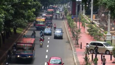 Indonesia jakarta city traffic close real time — Stock Video