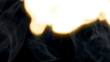Rokerige brand blast veeg lange 10082 — Stockvideo