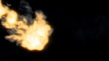 Smoky fire stream 10083 — Stock Video
