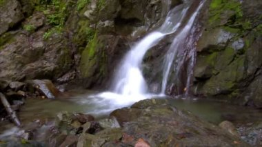 Time lapse water flow waterfall wide 10233 — Stock Video