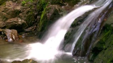 Water flow waterfall side 10235 — Stock Video