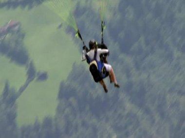 Paraglider close after start 10332 — Stock Video