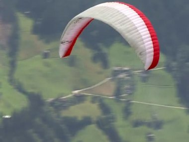 Parachute - paraglider start 01 10352 — Vídeo de stock