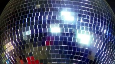 Disco mirror ball center glitter 10387 — Stock Video