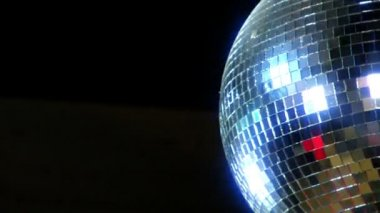 Disco mirror ball right side 10391 — Stock Video