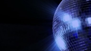 Blue loop disco mirror ball series - right side 10395 — Stock Video