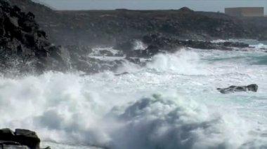 Ongelooflijke bom barstte verpletterende wave audio 10534 — Stockvideo