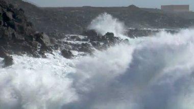 áudio de esmagamento onda incrível 10535 — Vídeo Stock