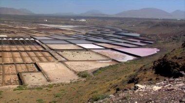 Pan saline wide volcanic area 10518 — Stock Video