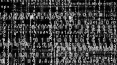 Internet binary data highway bw 10854 — Stock Video