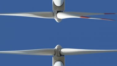 Two wind turbine med up loopable 10942 — Stock Video