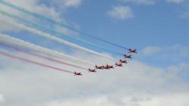 Frecce rosse iniziano airshow 10992 — Video Stock