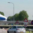 Boeing 747 Jumbo airplane on taxiway bridge traffic 11044 — Stock Video