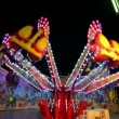 Stock Video: Funfair oktoberfest carousel jumping 11057