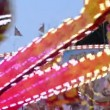 Stock Video: Funfair oktoberfest carousel close 11056