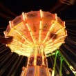 Stock Video: Funfair oktoberfest classic carousel super wide 11059