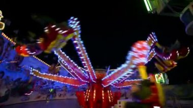 Funfair oktoberfest carousel wide quick 11060 — Stock Video