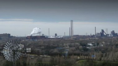 Factory pollution ruhr area 11262 — Stock Video