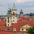 Pan over historic roofs and towers of prague 11375 — Stock Video #49330443