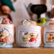 A typical Italian Vintage Sugar Bowls - ストック写真