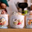 A typical Italian Vintage Sugar Bowls - Foto Stock