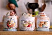 A typical Italian Vintage Sugar Bowls — Stock Photo