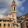 Bell tower in Italy - Stock Photo