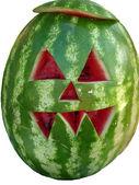Watermelon and halloween — Stock Photo