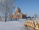 Russian Orthodox Church in the winter — Stock Photo