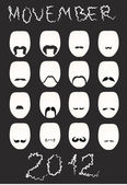Movember 2012 - Носи усы! — Stock Vector