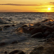 Sunset waves — Stock Photo