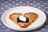 Pancake heart — Stock Photo