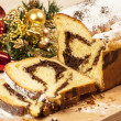 Christmas chestnut cake — Stock Photo
