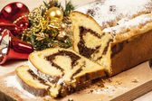 Christmas chestnut cake — ストック写真