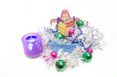 Glass Christmas toy — Stock Photo