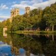 Stock Photo: Durham Cathedral in Spring.