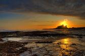 Bamburgh Castle Sunrise — Stock Photo