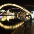 Millenium bridge, newcastle quayside — Stock Photo