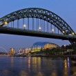 Newcastle Bridge and Quayside — Stock Photo