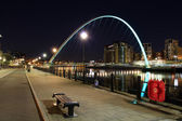 Millennium bridge,newcastle quayside — Stock Photo