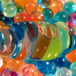 Abstract background,pattern of whirled colorful plastic balls — Stock Photo