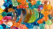 Abstract background,pattern of whirled colorful plastic balls — Stock fotografie