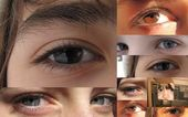 Collection and collage of different eyes - Creative background — Foto de Stock