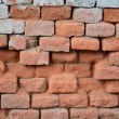 Old grunge and damaged brick wall background — Stock Photo