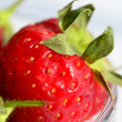 Strawberries in glass bow — Stock Photo #25234055