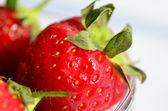 Aardbeien in glas boog — Stockfoto